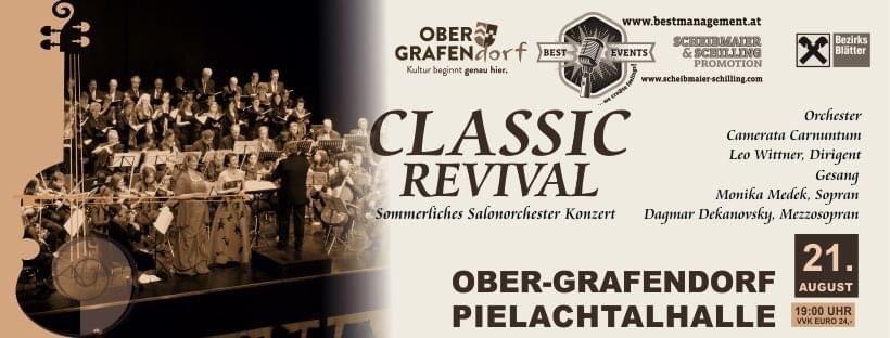 Zum Vormerken - südlich von St.Pölten im wunderschönen Ober-Grafendorf - mit Salonorchester-Besetzung ein buntes Programm von Schuberts