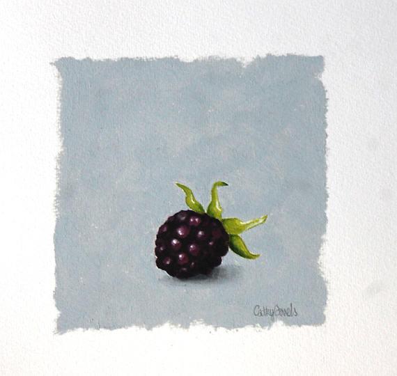 Blackberry Oil Painting  Fruit on Gray Background Miniature http://dld.bz/fNCHN oilpainting dailypainting #miniature foodart stilllife stylingpic.twitter.com/pJS7Y0yvhM