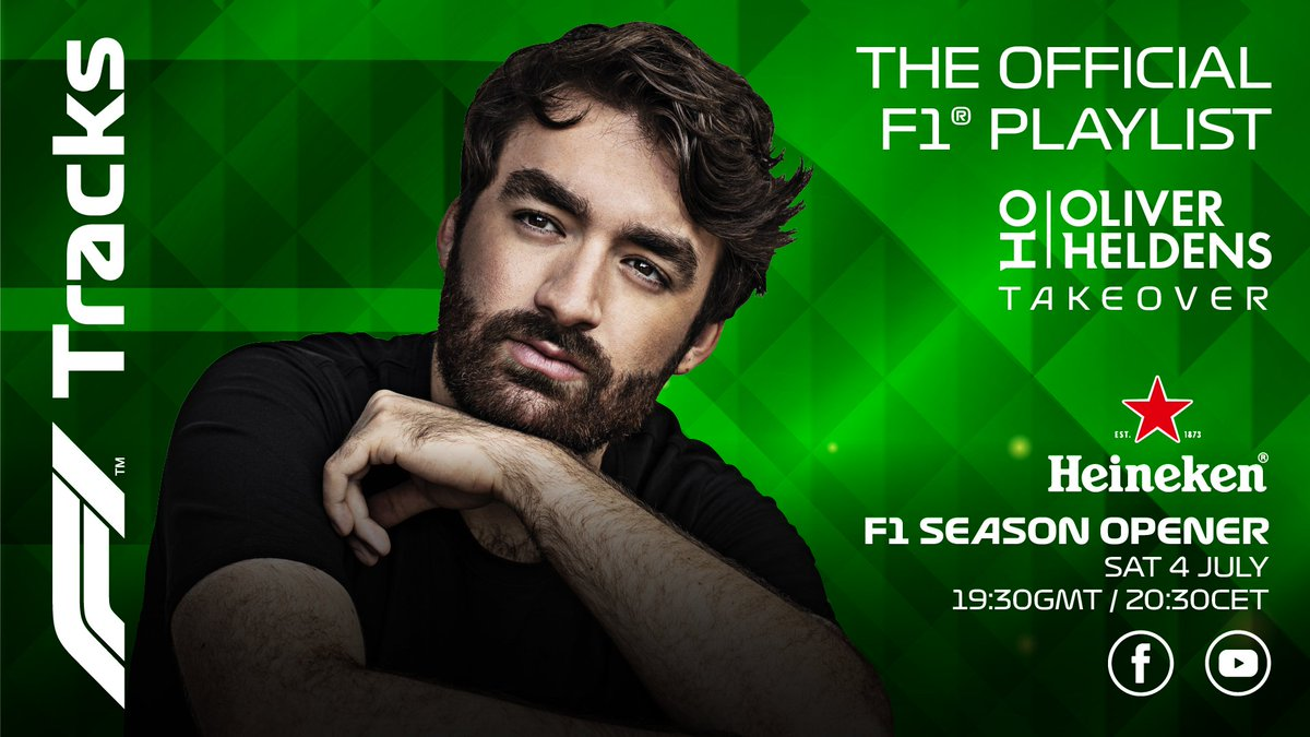Start the race weekend with #F1Tracks 🎶  @OliverHeldens and @Heineken are bringing us the party tunes ahead of their special season opener on Saturday night  Listen here >> https://t.co/Pw6w0KGll8   #AustrianGP #SocialiseResponsibly https://t.co/MydvmfHCdD
