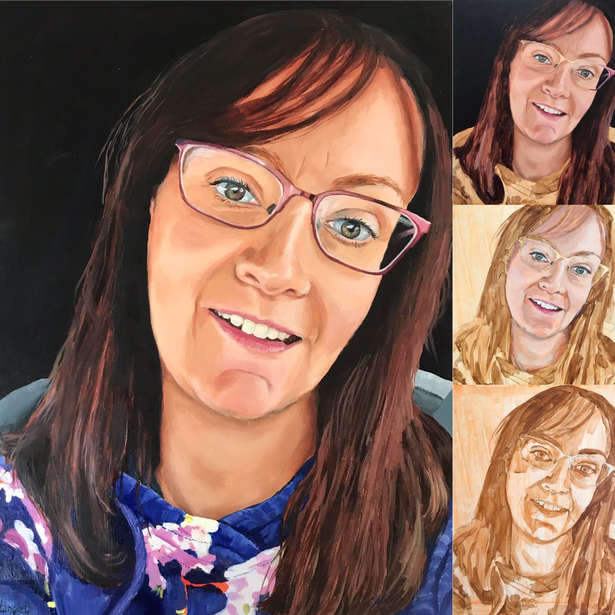 Diane, is a practice nurse from Shropshire and is my 6th #portraitsforhnsheroes she works in an assessment hub caring for patients with Covid-19 symptoms with the aim of keeping these patients out of #hospital #oilpainting #nhs #shropshire #portraitpainting #nursingpic.twitter.com/iXgFAtisWN