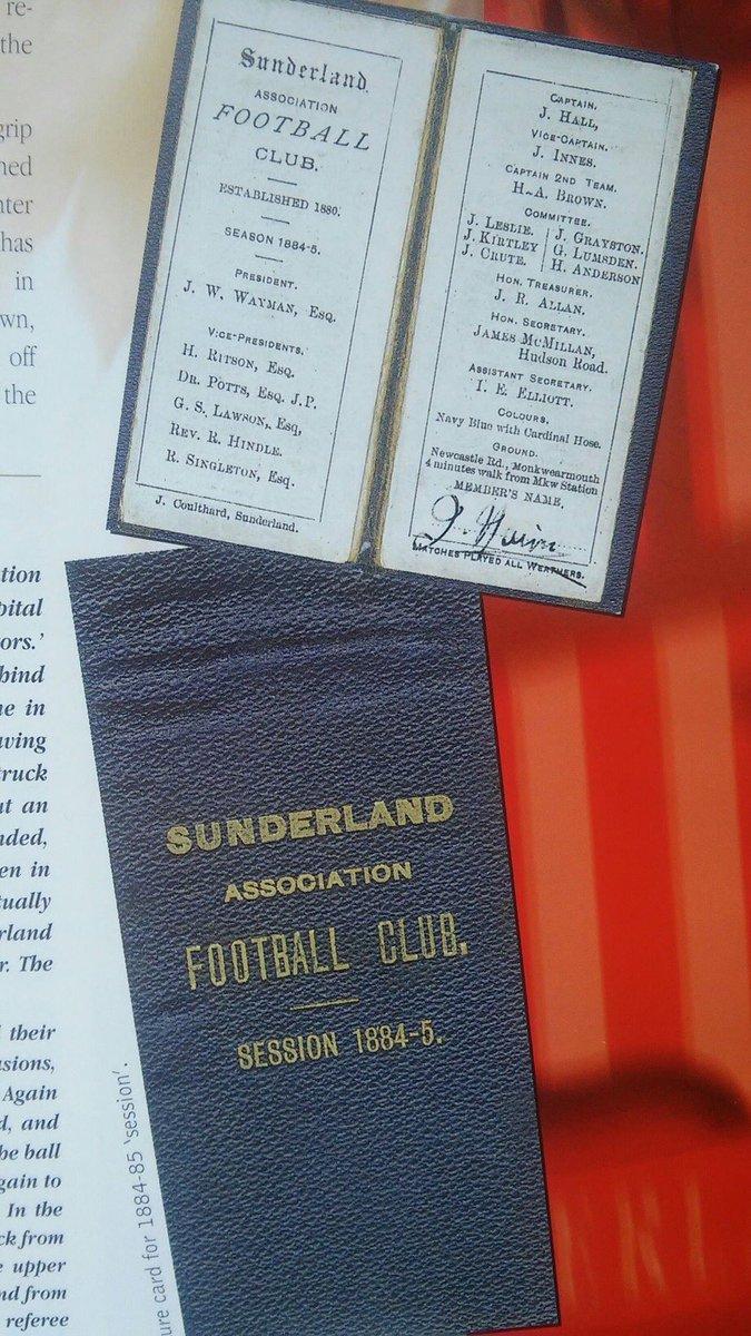 Here's an 1884/85 @SunderlandAFC members card showing club was formed in 1880. https://t.co/Kb9WQaNE6f