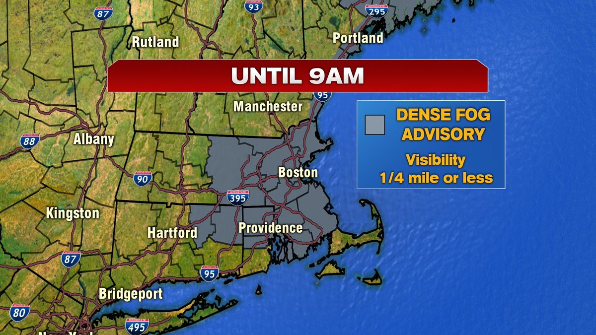 Dense fog advisory until 9am.