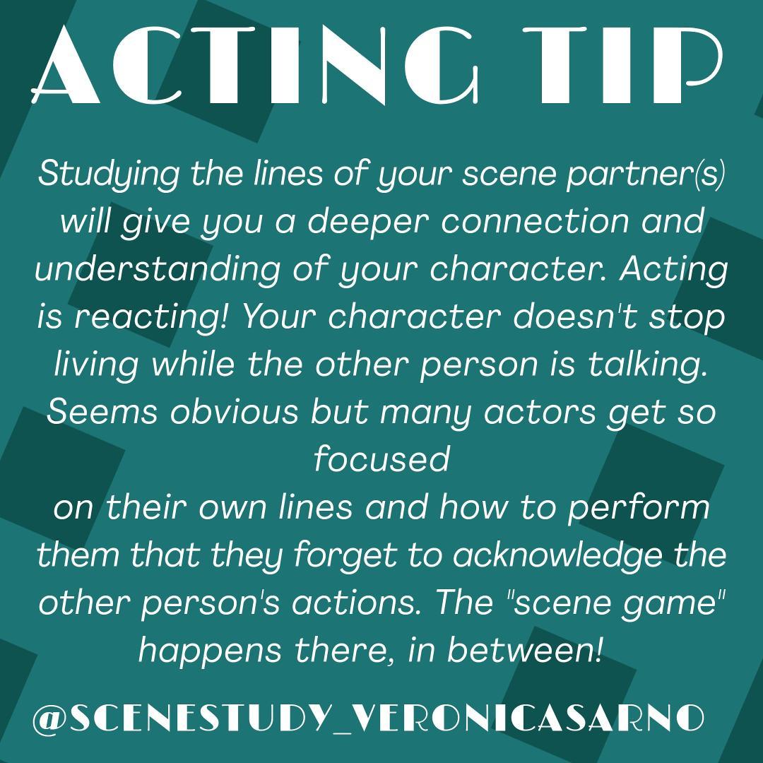 #actingtip #charactertip #actingtips #scenetips #tipsforactors #aboutthescene #scenegame #play  #actingisreacting #otherperson #acknowledgeotherpeople #studythescene #studythecharacter #charactersrelationship #totheactor #beaffected #letyourselfbeaffected  https://www.instagram.com/p/CCIiZ7-nD6h/?igshid=tfiwwy6fr34l…pic.twitter.com/LNhxD8F9b4