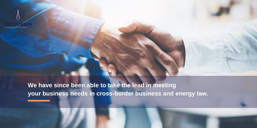 Our #legal offerings are aimed at unlocking #business opportunities for clients by being pro-African, innovative, first-movers and developing a pool a specialist #lawyers and advisors for cross-border energy business.   Call on our team of lawyers today! #CenturionLaw https://t.co/uNR3x7xaMx
