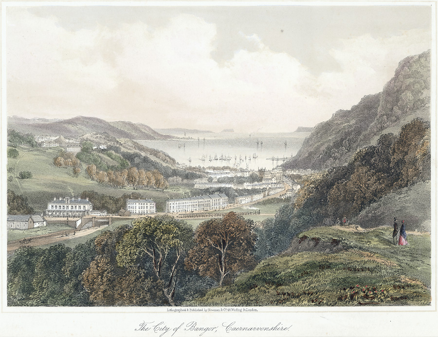 #otd 1854 Charlotte Bronte is staying in the beautiful Welsh city of Bangor with her new husband Arthur Bell Nicholls. He must have liked the place, for exactly 10 years later he returned to Bangor to honeymoon with his second wife Mary Bell. <br>http://pic.twitter.com/PeNsgknUiR