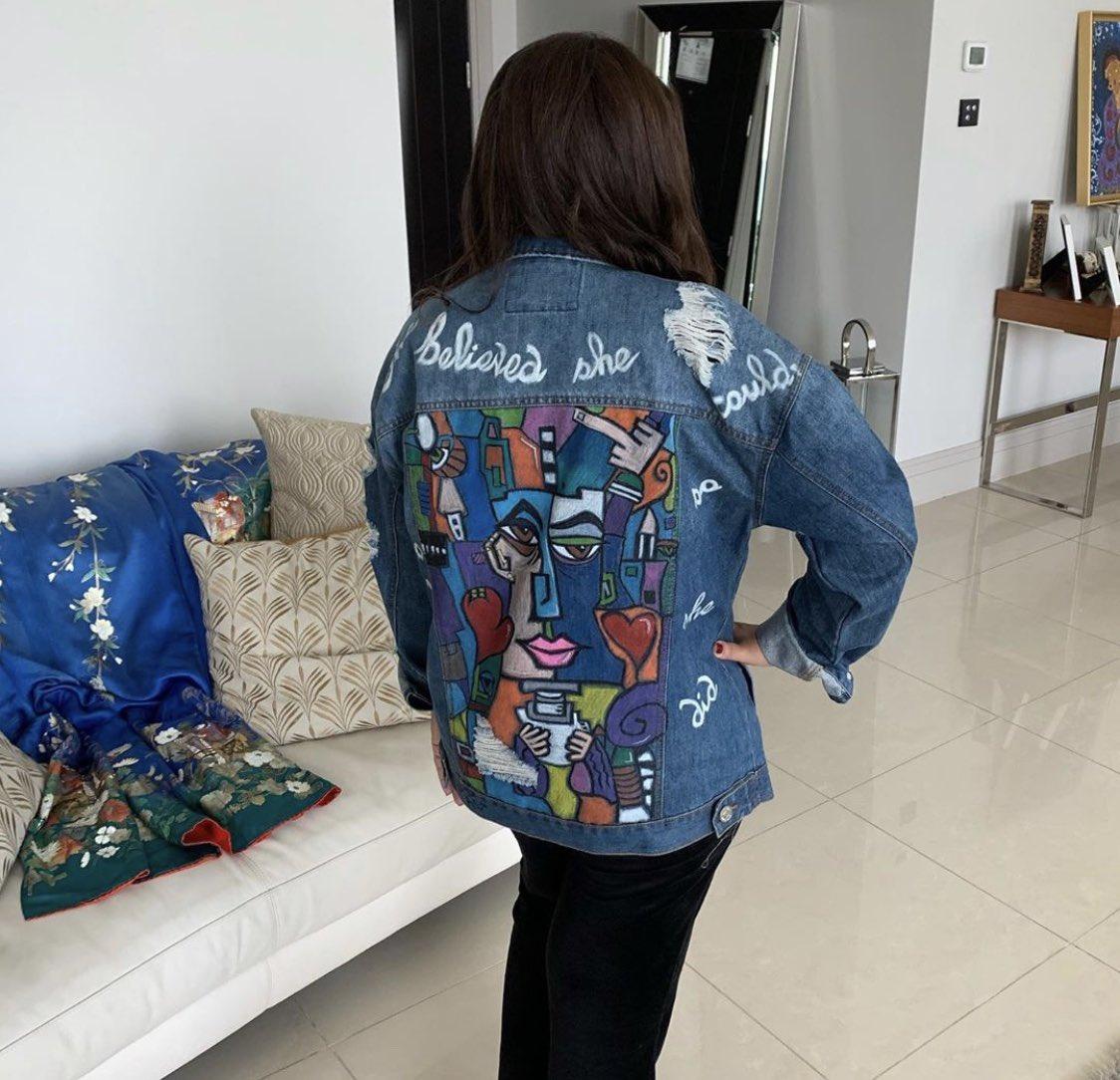 رسمي علي الجينز my hand painted on denim jacket Facebook and Instagram   sasoartsbysohaserry https://t.co/J6RCF6h5v8