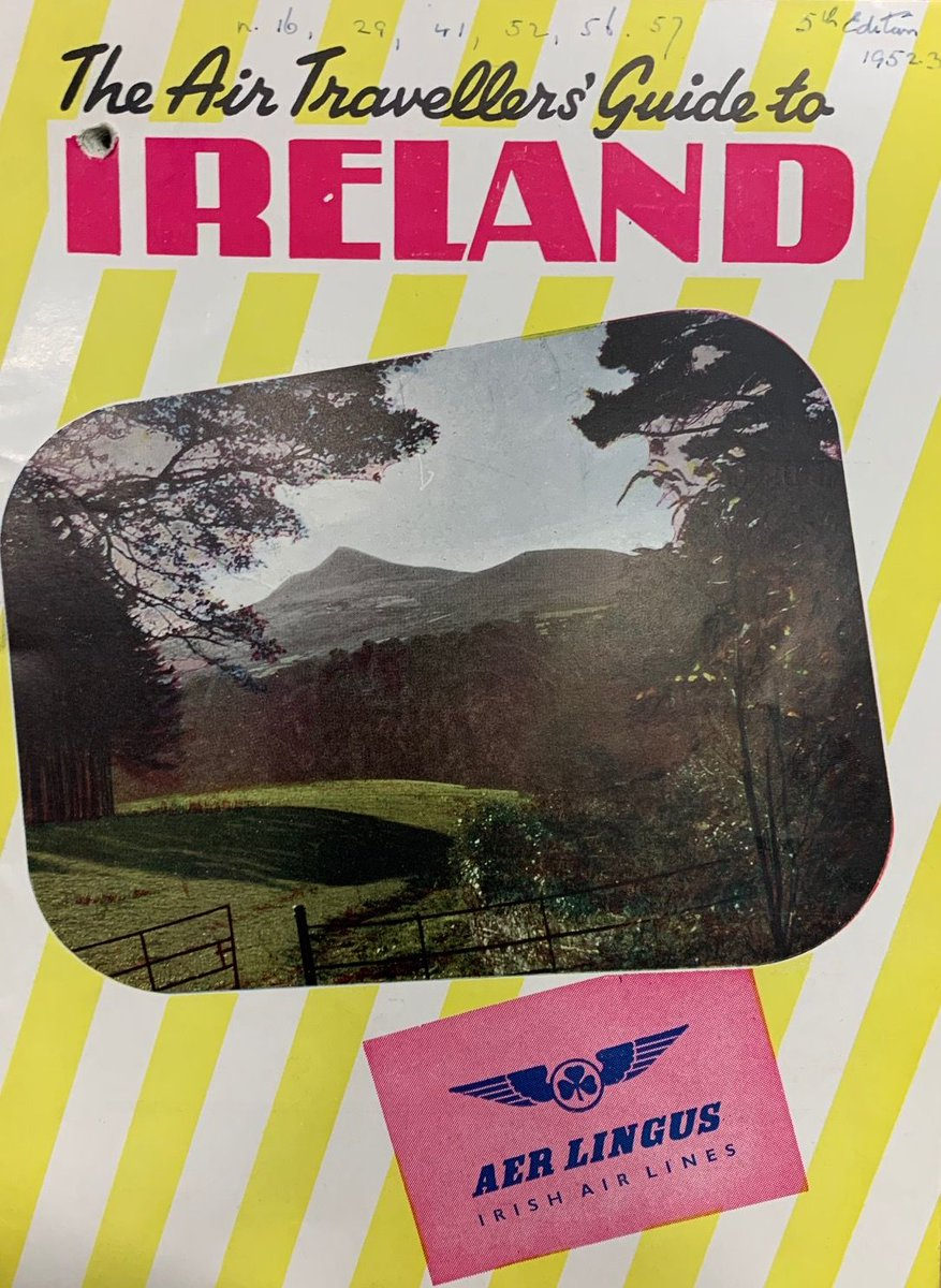 This month's #ExploreYourArchive theme is #Travel. Travel has changed for us lately, our destinations are much closer to home but as this 1953 booklet says 'Ireland is the land of happy holidays'. The guide provides advice on how to dress for the weather! #IrishArchives https://t.co/BLe9rBQxC6