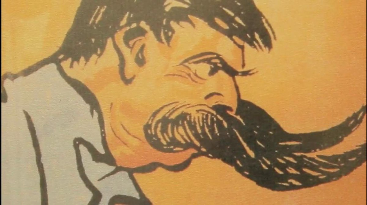 For #ThrowbackThursday here's an illustration of the Original Blue Bull ... the legendary Louis Schmidt 💪... with his famous handle bar mustache, looking like the horns of a raging Bull #BullsFamily #tbt #loverugby #rugby