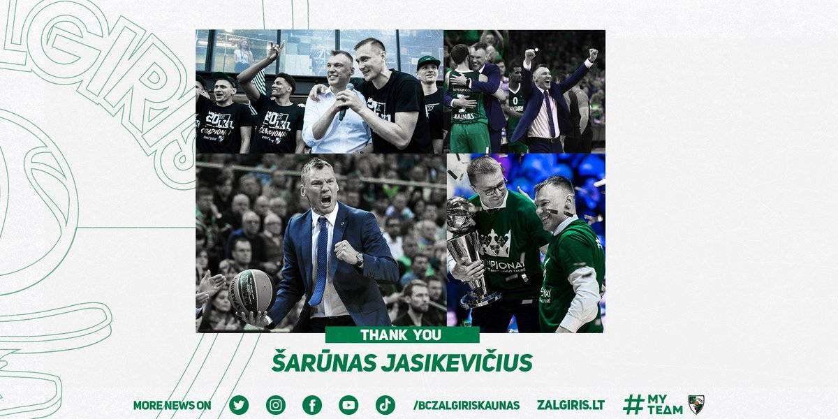 It's officially an end of the Saras era in Kaunas. Thank you for all the memories, Coach! 💚  Read more: https://t.co/1sZaMiZoo5 https://t.co/0wLC0xihqP