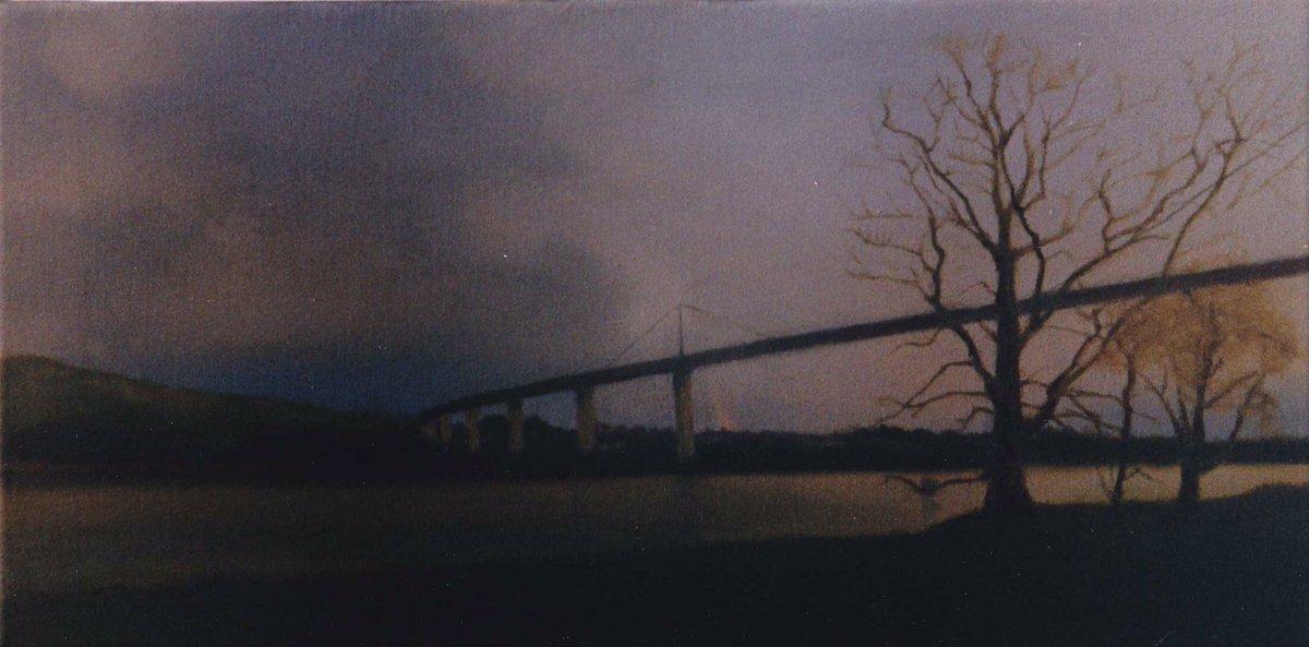 After the Rain, oil on canvas, 30cm x 75cm 2003. #landscapepainting #bridge #erskinebridge #oilpainting #contemporarypainting https://www.instagram.com/p/CCIlb49loUq/?igshid=1lshni18g9gbe…pic.twitter.com/j2nDTVLAMz