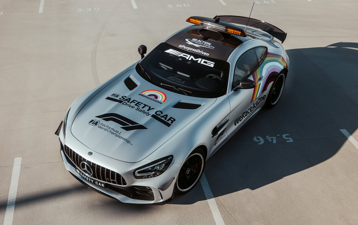 The @F1 Safety Car has a new look  @MercedesBenz is proud to support #WeRaceAsOne  <br>http://pic.twitter.com/ppiGXRJca4