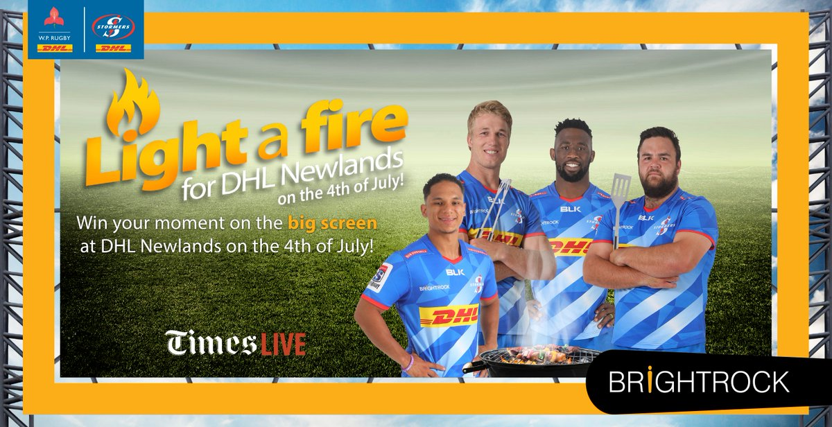 The DHL Stormers will bring their fire to DHL Newlands in a special live-streamed broadcast on BrightRock TV Youtube channel from 17h00 on Saturday with @BryanHabana, @Elmakapelma and @iamSivN. Light up your braai at home and tune in. #iamastormer #LoveChange #LoveDHLNewlands