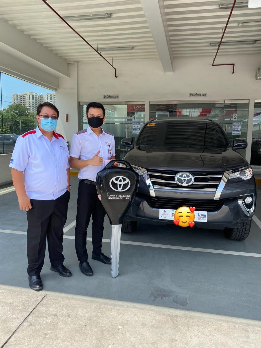 Thank you for trusting me as your Marketing Professional in purchasing your New Toyota Fortuner.  #Toyota #ToyotaFortuner #Fortuner  For inquiries, please Pm/call/text Jonathan Bong Manalo Marketing Professional Toyota Manila Bay 09162366235 / 09338212563 pic.twitter.com/pTJKY6B5Tk