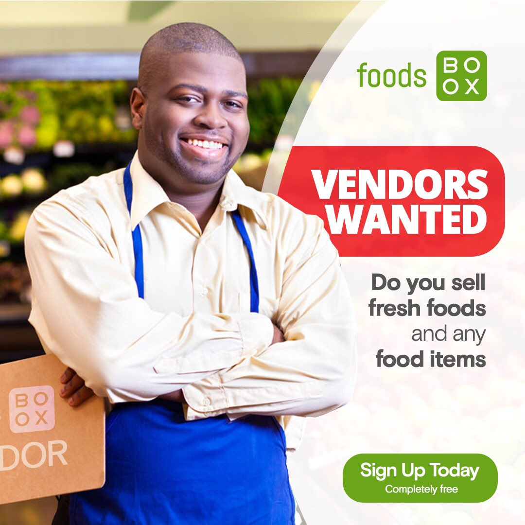Sign up for FREE and start selling on foodsboox today.  #foodsmarketplace #abujafoods #food #homedelivery #foodvendors  #foodsboox #staysafe https://t.co/BNiKMRuMQU