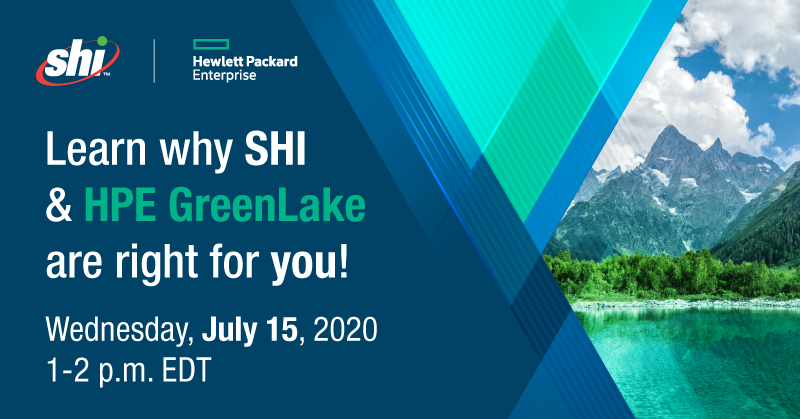 Join our HPE Greenlake Webinar on Wednesday, July 15th from 1:00 - 2:00 PM EDT! As a @HPE Platinum Partner, SHI can add value to your HPE GreenLake investment by offering complete solution perspective and delivery capability.  Register here: https://t.co/pDtQKwnzKO https://t.co/TNX1wA6CTf