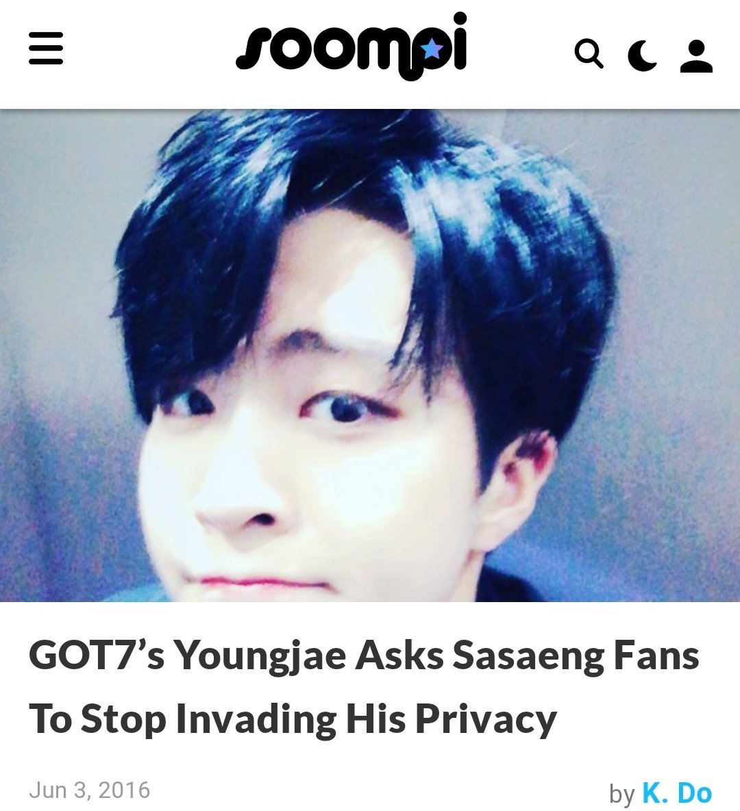 how many times HOW MANY TIMES SHOULD YOUNGJAE POST AND GIVE WARNINGS TO THESE SASAENGS WHO ARE ALWAYS INVADING HIS PRIVACY AND THREATINING HIM?? @jypnation WHEN ARE YOU EVEN GONNA START PROTECTING YOUR ARTISTS???? pic.twitter.com/t2fmyoURJE  by grayce ∞