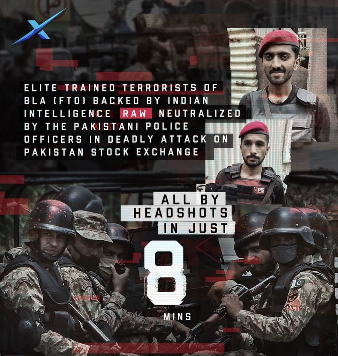 #IndiaSponsoringTerrorism Security forces killed the terrorists in just 8 minutes...This quick response of the forces saved lives of many innocent people...We are proud of you heroes  @TheTeamPatriot<br>http://pic.twitter.com/jip8RGwXp7
