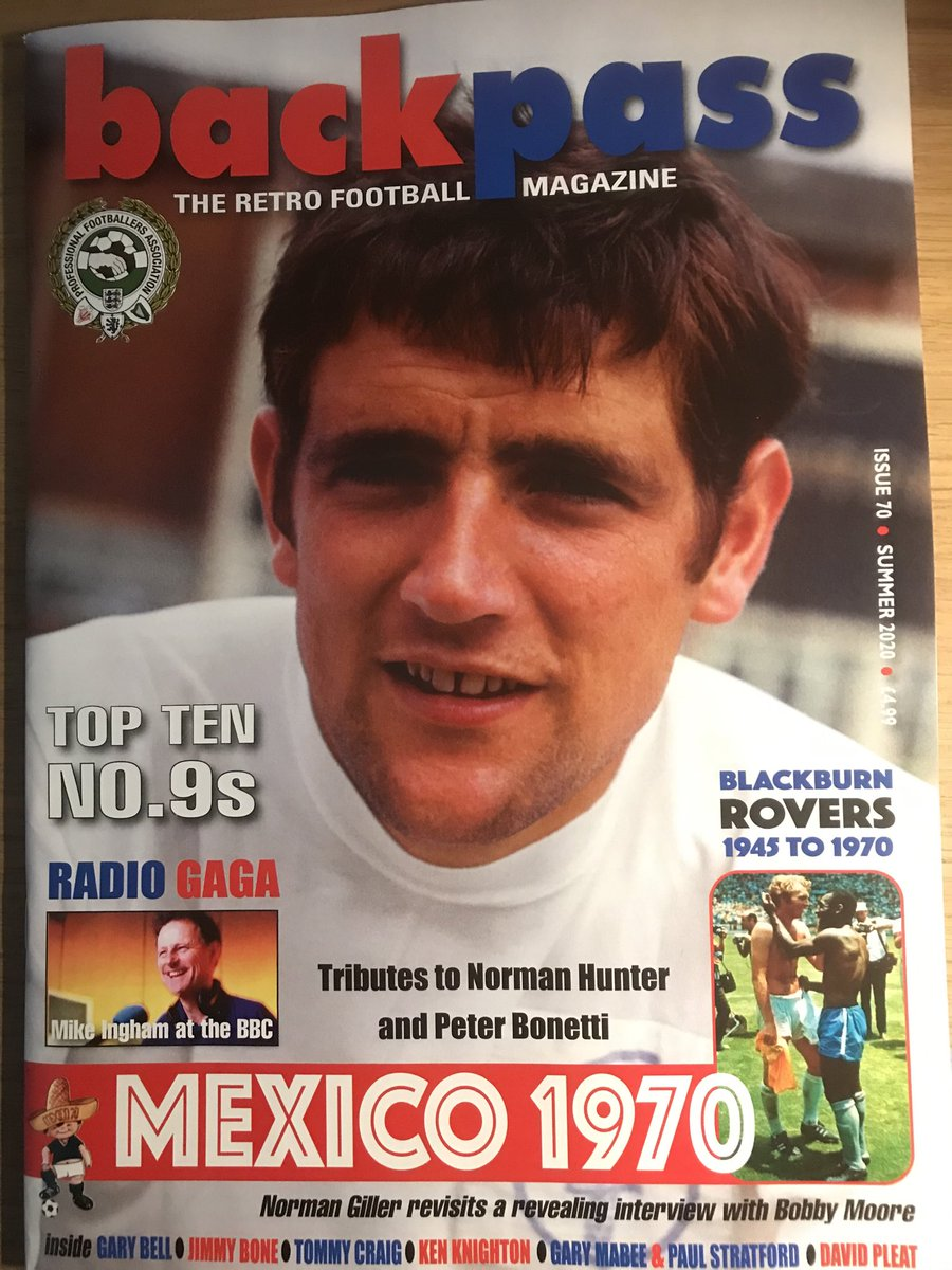 If you like football from the 60s, 70s and 80s then Backpass is your magazine. https://t.co/XwL1TmzpsX