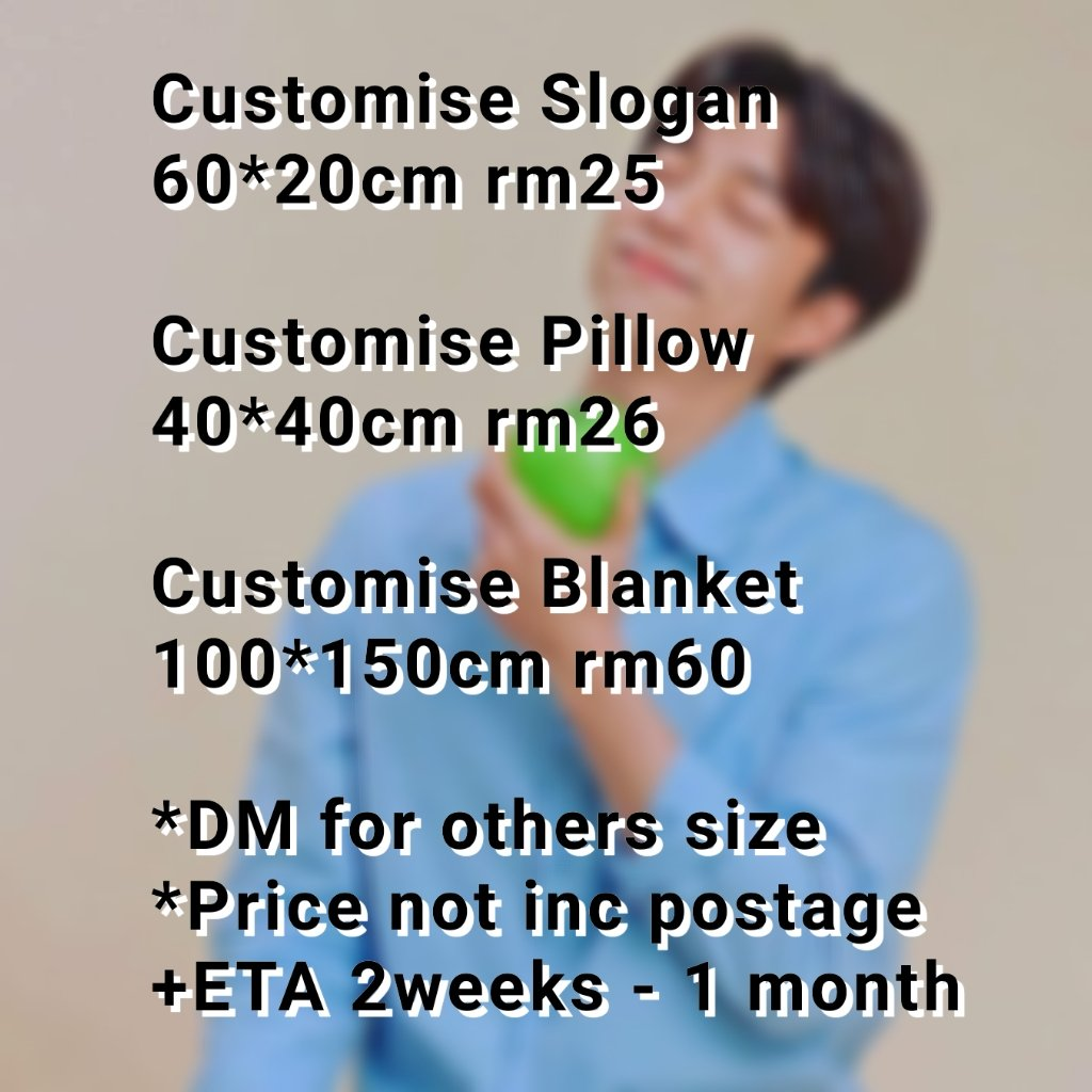 NEW BATCH OPEN  Due- 11 July (Saturday) ***Will pick a winnerwho retweet this tweet (giveaway - a slogan) Customise Slogan Pillow Blanket // Doll Postage- wmrm6/emrm10 pic.twitter.com/KAkfpDdhsL  by carol_dongpyo