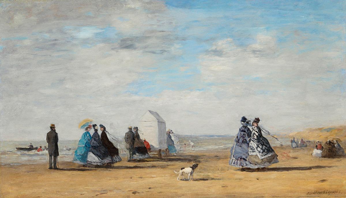 Come on, Eugène Boudin, take us to the sea. 🌊⠀ ⠀ 🖼: Eugène Boudin, 'Scène de plage à Trouville', ca. 1863.⠀ ⠀ #inspiration #summermood #bozar https://t.co/ttOVYM0W6b