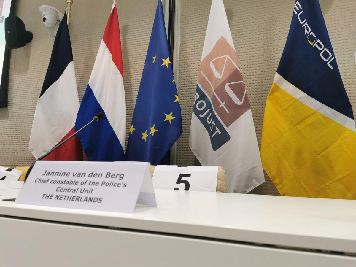 De persconferentie bij @Eurojust over een groot internationaal politieonderzoek is begonnen. #cybercrime https://t.co/OhgW2xYMus