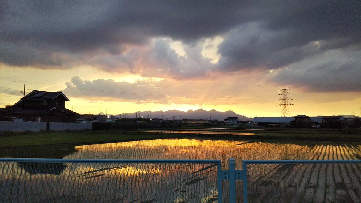 夕日がキレイ https://t.co/2LlGwAlqeM
