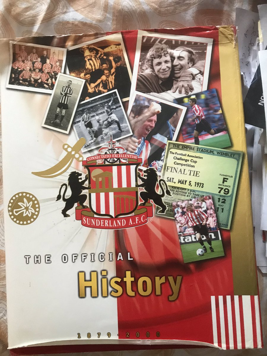 Paul Days has that, what is on screen is from page 12 of @SunderlandAFC official history book https://t.co/C4lIX2tHiC https://t.co/XZ5ZDO3bI4