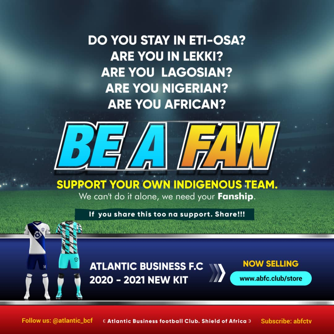 To all football lovers across the globe, here is your chance to be part of God's Own Team  We can't do it alone, we need your Fanship  #atlanticbusinessfc  #atlanticbfc  #footballlovers #footballfans  #godsownteam  #shieldofafricapic.twitter.com/jGA2sb5DX6