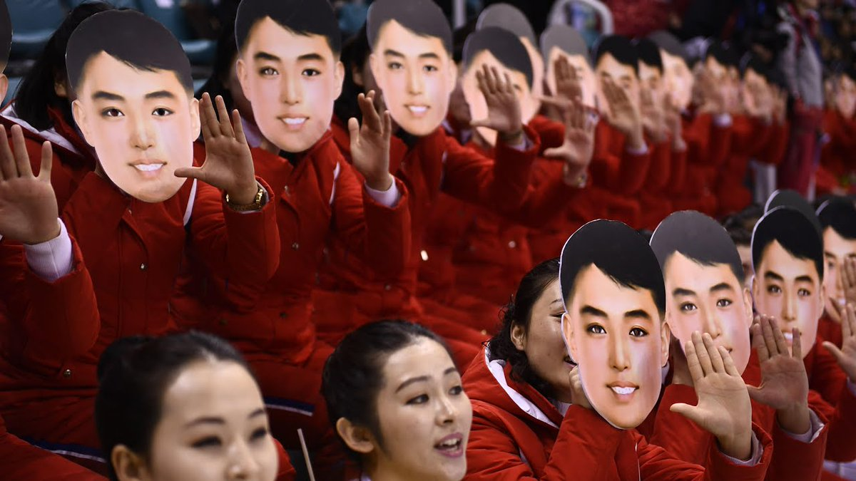 Cult of Donald Trump is founded on craven and imbecilic panic against masks. Supporters of Marshal Kim Jong-Un do not fear to wear masks in public.
