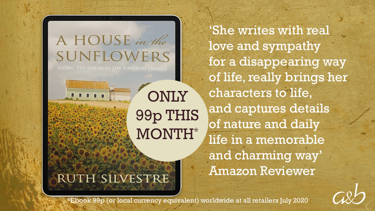 July's Ebook of the Month is  HOUSE IN THE SUNFLOWERS. *Just 99p worldwide at all retailers.* From falling in love with a house in France, to renovation ups and downs, and with (often mouth-watering!) insight into the local community, it's a charming read. https://t.co/HkA46KgchU https://t.co/Z2GB4mxBNY
