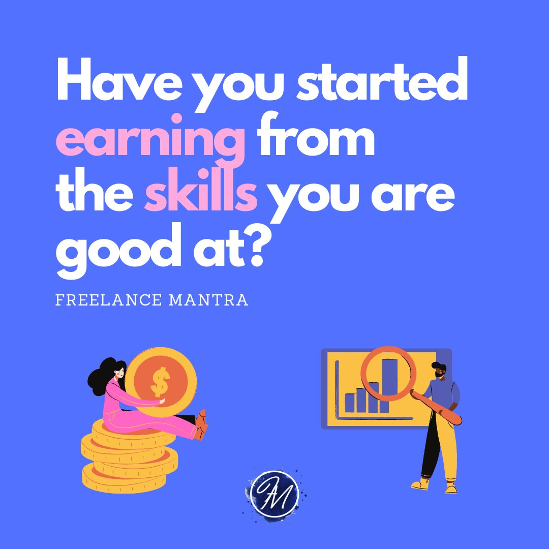Start earning from the skills you are best at. Join Freelance Mantra http://www.freelancemantra.in  #freelancing #freelancersindelhi #workfromhome #coronavirus #coronaoutbreak #quarantine #freelancemantra #freelancingfemales  #hobbies #skills #skillset #skillenza #coursespic.twitter.com/CRlXJO9F9i