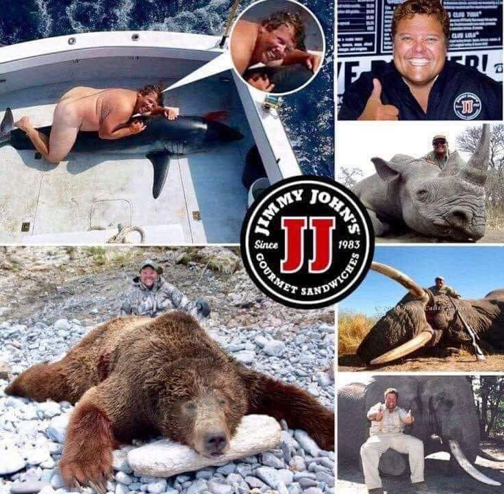 "By Andreas Lutz  ""This is the face of James John Liautaud, owner of the"" Jimmy John's ""sandwich chain, and at the same time it is the face of an animal abuser and murderer of innocent animals. Shame.  Cruelty becomes perversion-cruelty....   #animalRightspic.twitter.com/xXrRcfnWew"