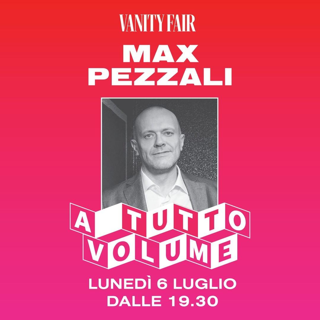 #MaxPezzali è uno dei grandi nomi della musica italiana che il 6 luglio, a partire dalle 19.30, farà parte dell'evento speciale organizzato da Vanity Fair  Cliccate su  https://t.co/yhvpeRmzGK per scoprire come partecipare! #atuttovolume https://t.co/9MbgTfmdnJ