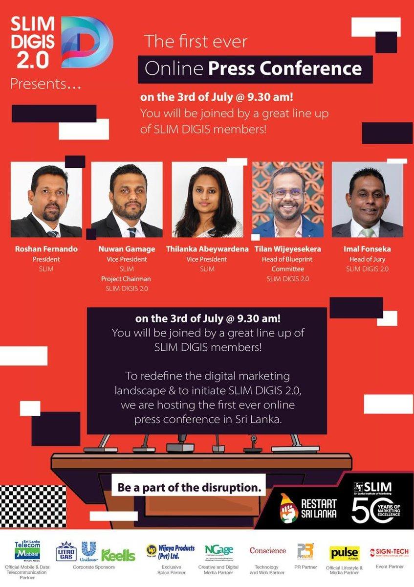 Launching #SLIM Digis 2.0 the National #Digital #Marketing #Awards of #SriLanka with an #online #PressConference. https://t.co/Ye9AoypsuJ