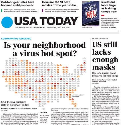 "USA Today's lead: ""US still lacks enough masks"" https://t.co/A9K7zg3IVg https://t.co/DvzBsAy03a"