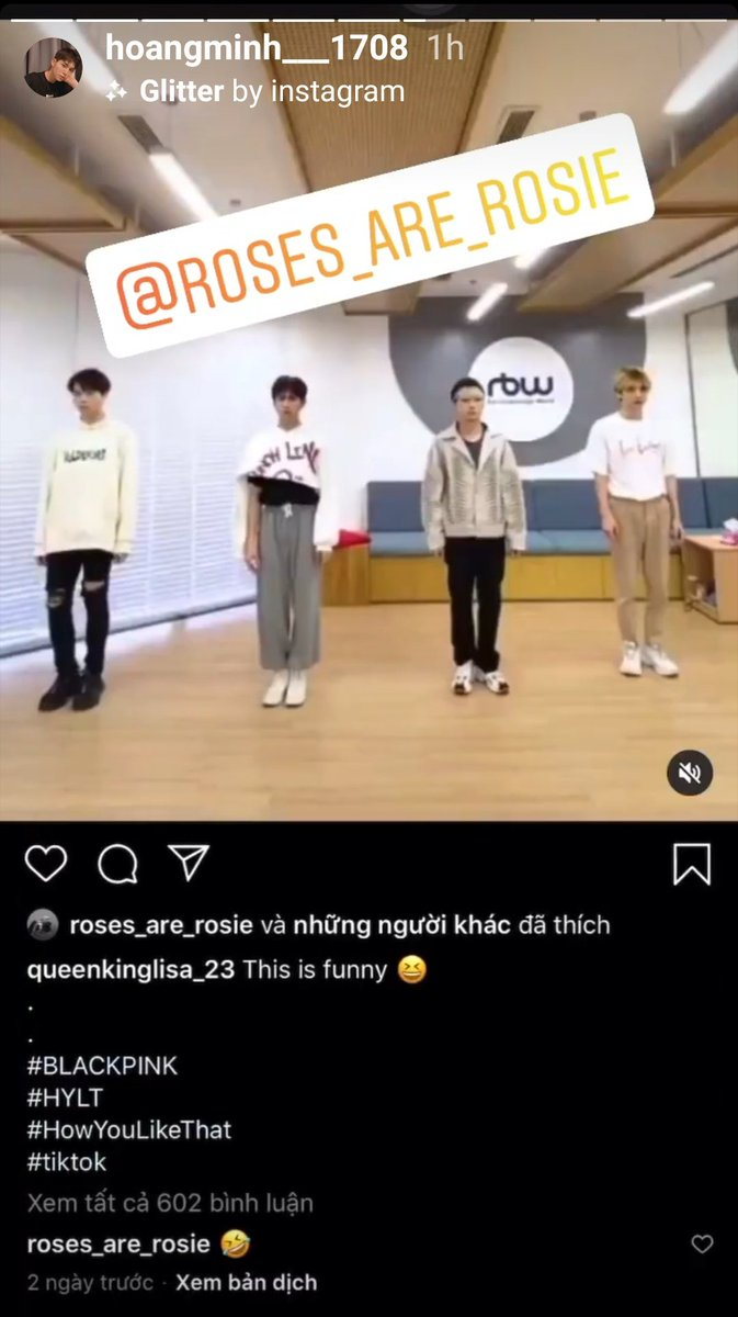 He must be so happy He is a member of D1verse - a vietnamese boygroup and a super loyal fanboy of Rosé. I noticed him long times ago but today he got noticed by Rosé for the funny dance with his members. Congrats Hoàng Minh #ROSÉ  <br>http://pic.twitter.com/jD4v71OHWR