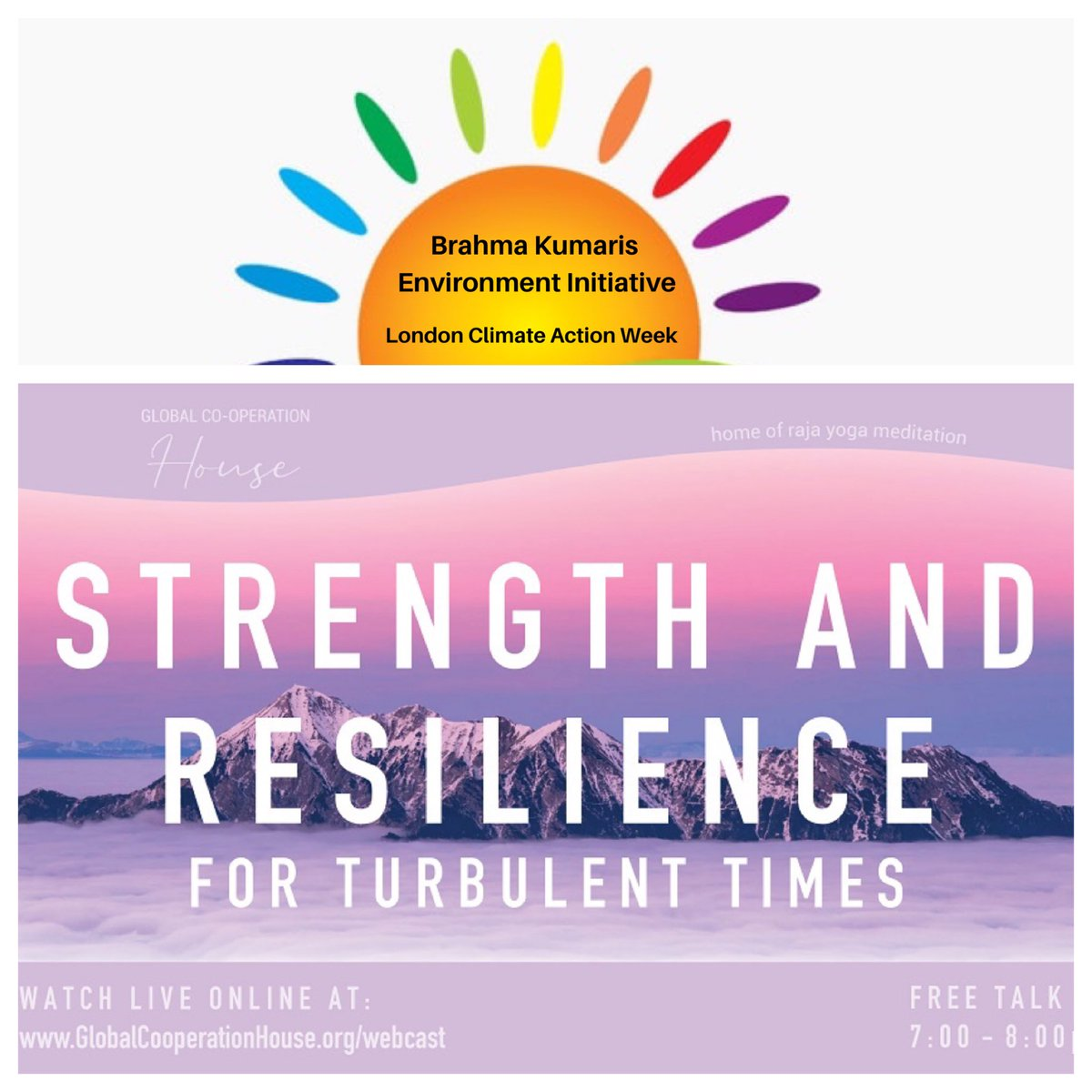 Strength & Resilience for Turbulent Times: Thurs #2June 7-8pm: https://t.co/ujoU80rrE5 - Dedicated2 #London #ClimateAction Week @london_climate. Join #SonjaOhlson & #GoloPilz of @EcoBrahmaKumari 2explore how2 adapt our thoughts & lifestyles during Times like NOW! #meditation🧘🏽 https://t.co/pxCNhLyoey