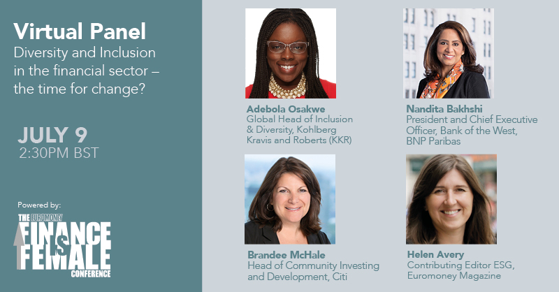 Join us next week at our second #FinanceIsFemale live virtual panel, where we will discuss #diversity and #inclusion in the financial sector and the policies and programs that can drive systemic change. Register here for free: https://t.co/PuyKIIiCQa https://t.co/cjXqP3ATwR