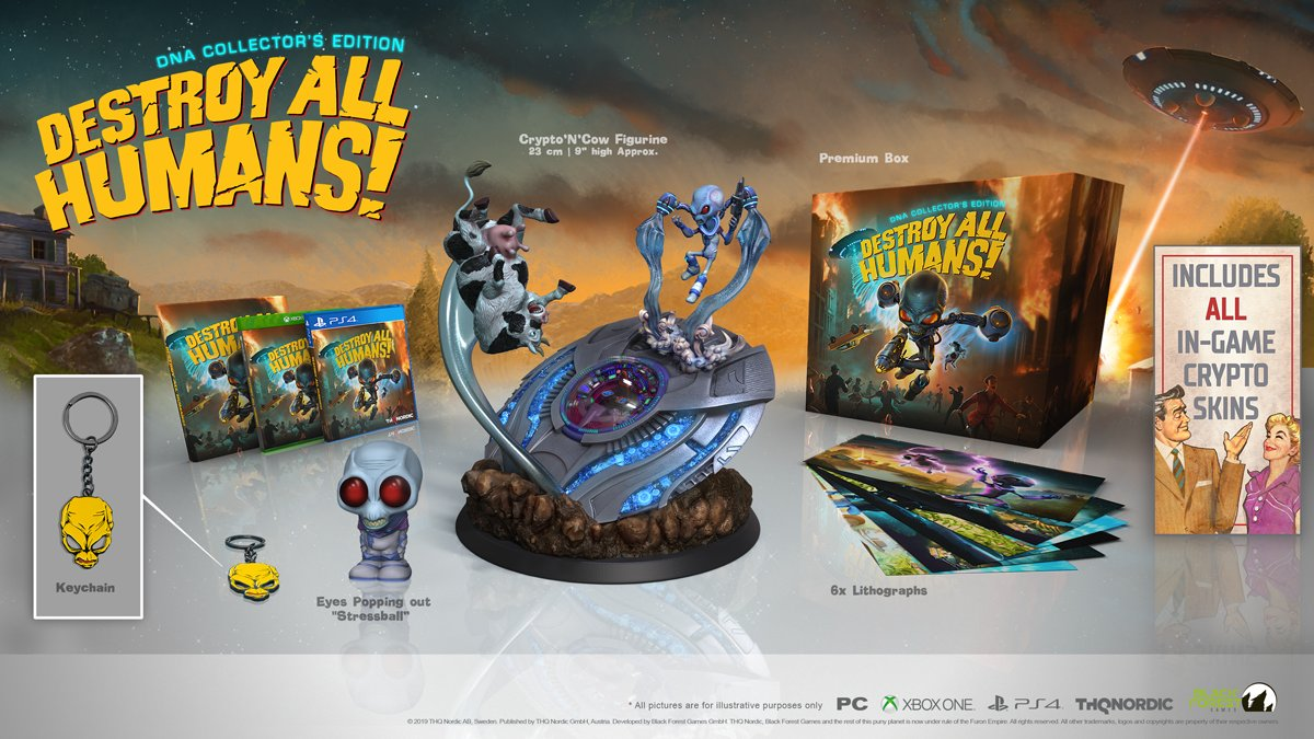 The cult-classic returns July 28th! Secure the DNA Collector's Edition before it's gone. 👽   https://t.co/cg9nhofanH  #DestroyAllHumans https://t.co/RrgIutZq7y