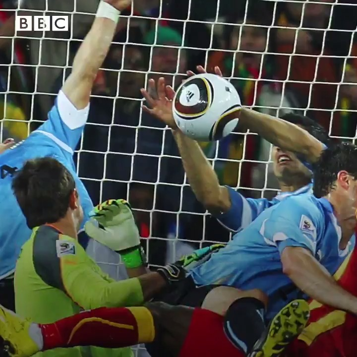 """We were crying and you see someone who has cheated us is celebrating. How can I forgive him?""   Ghanaian football players @HansSarpei and John Paintsil say the 'cannot forgive' Luis Suarez for the handball that he used to block a goalbound shot on this day 10 years ago."
