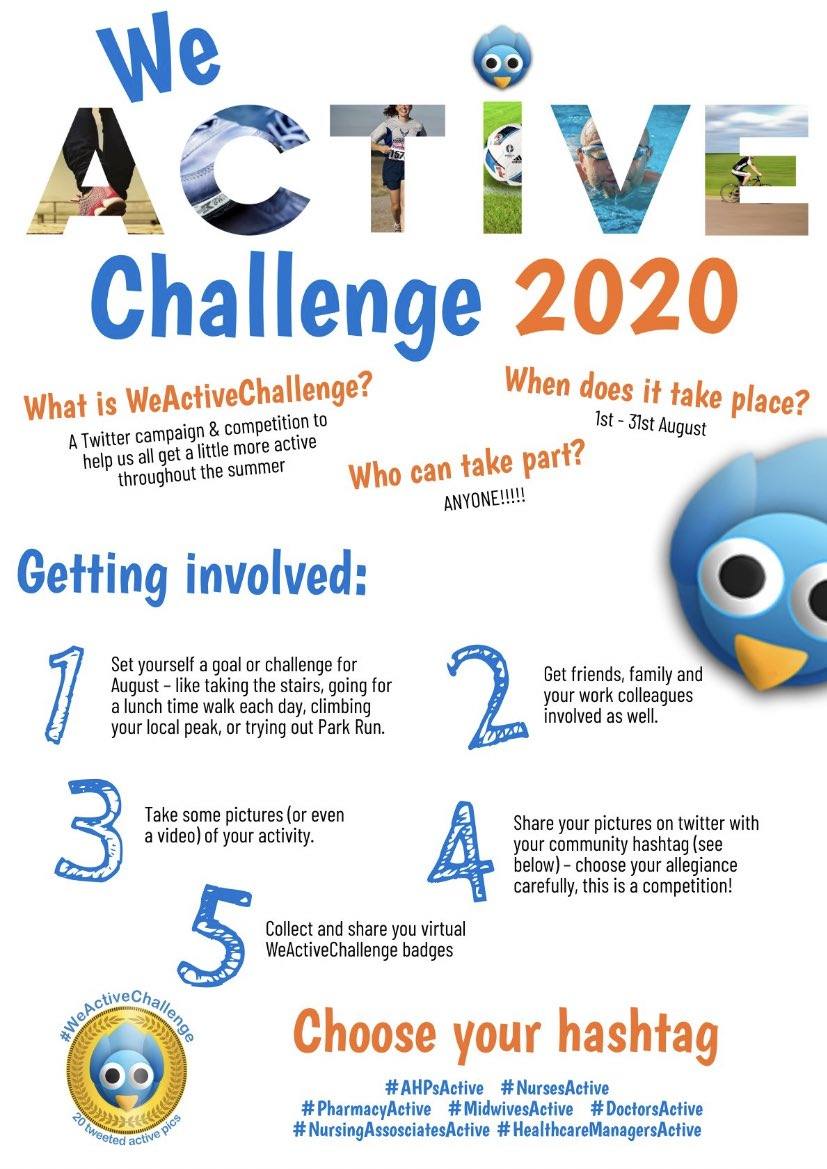 Are you ready for this years #WeActiveChallenge in August?? wecommunities.org/blogs/3566 #AHPsActive