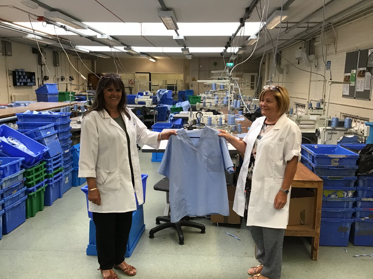 Miriam & Andrea from @HMPSwansea have produced scrubs for the NHS & taught men in the prison new skills.   🙏Thanks to our #HiddenHeroes   Listen to Miriam speaking about her role on @964thewave 👇 https://t.co/dklnMJ5TeB https://t.co/p8UIFe9laH
