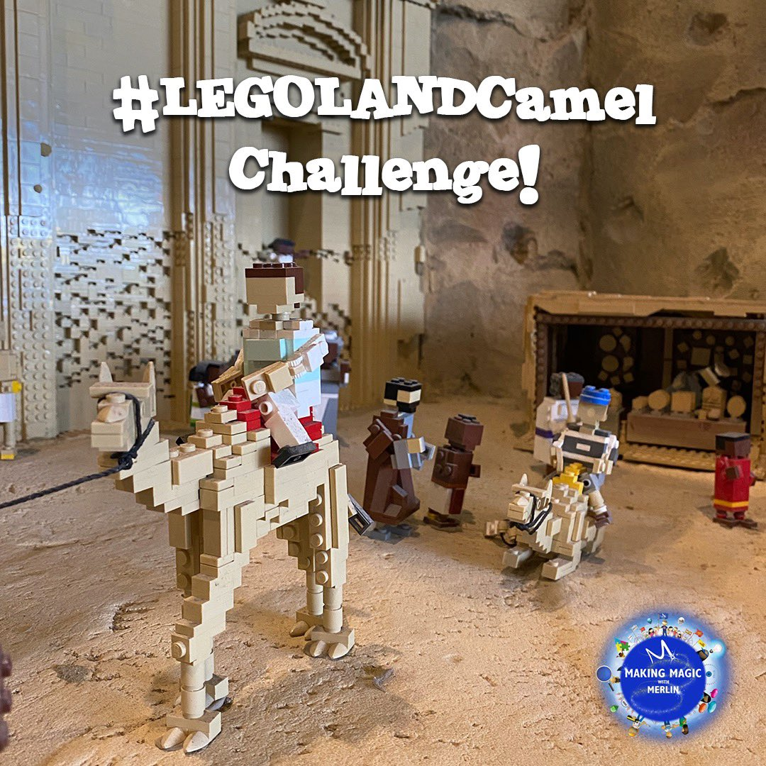 MINILAND is filled with AWESOME surprises and this week we want to challenge you to build a #LEGOLANDCamel like the ones in MINILAND's Petra! #MakingMagicwithMerlin https://t.co/5JGET6HeTX