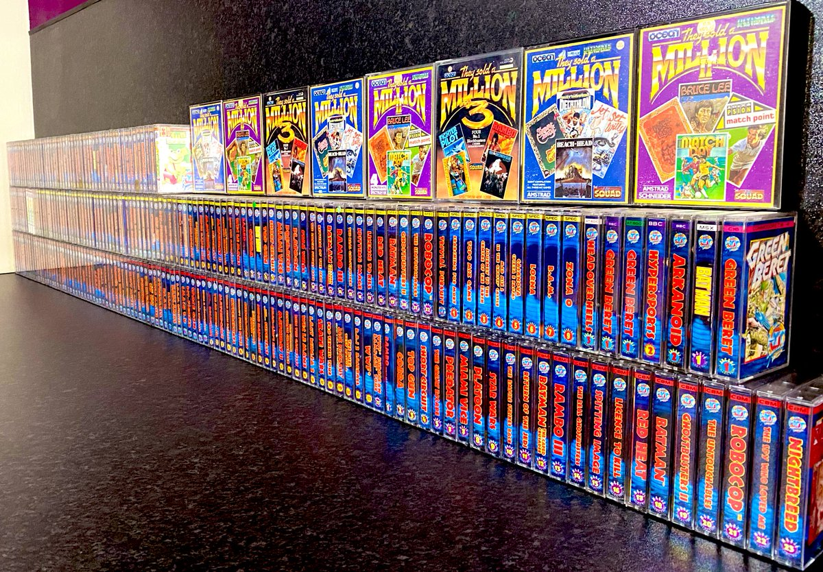 I think I have an addiction to collecting 8 Bit Hit Squad games! Only the Commodore 64 set is complete, so far! #retro_b8 #retrogaming #spectrum #retro #8bit #thefutureis8bit #sega #commodore #amstrad #oldgame #oldgames #oldgamesarethebest #gaming #nostalgia #ocean #hitsquadpic.twitter.com/ftvM7Peyj6