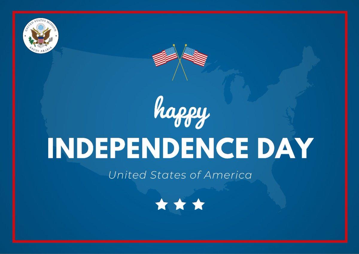 سيتم إغلاق السفارة الأمريكية في #الرياض والقنصليات في #جدة و #الظهران يوم الأحد الموافق ٥ يوليو بمناسبة يوم الإستقلال الأمريكي. https://t.co/42EHjUxAtR
