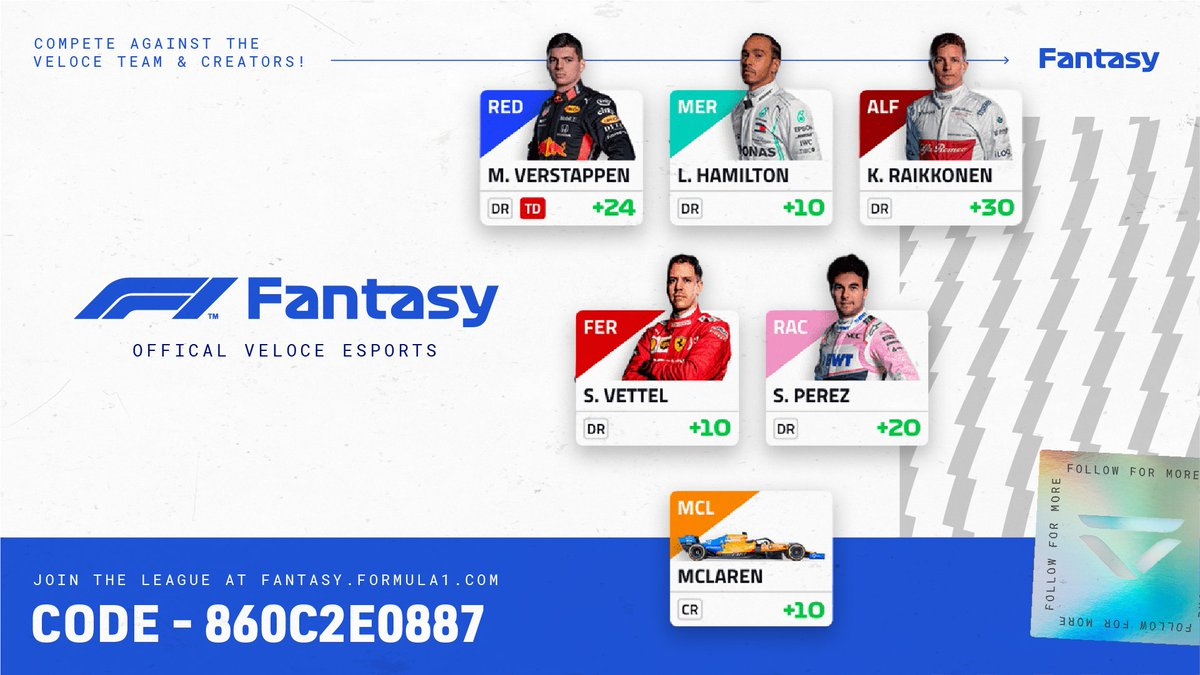 Whos joining our @F1 Fantasy league?   🏎️ Link: https://t.co/Dowk1FRCui 🏎️ Code: 860c2e0887 💬 Comment your picks below. #F1Fantasy https://t.co/N78SsNTYzD