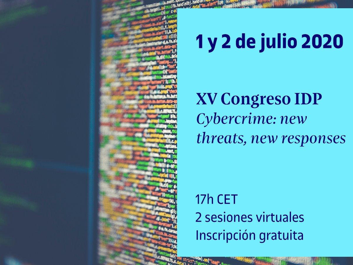 💥 Recuerda que hoy a las 17h CET tendrá lugar la segunda y última sesión del XV Congreso #IDPUOC #Cybercrime: new threats, new responses.  ▶️ Acceso a la sesión:  02 de julio - 17:00 hs. - https://t.co/X7XnFiMTVQ  ➕ https://t.co/ikeUhsvyvQ https://t.co/R3NsHXAeAg
