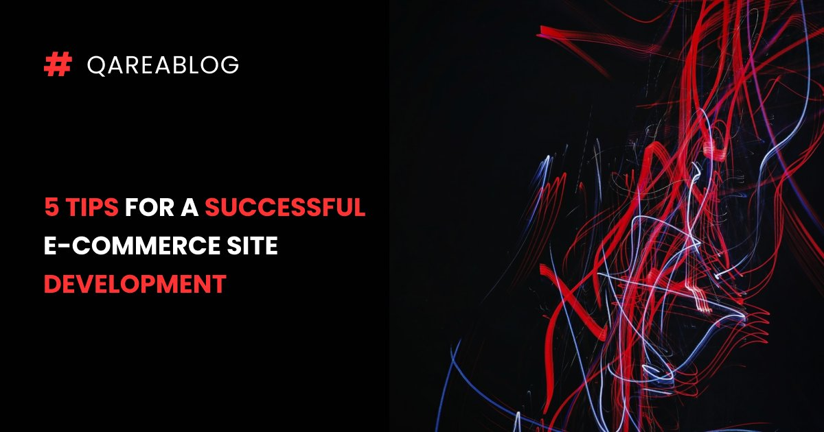One good way to increase your e-commerce sales quickly is to build a great website. In our blog, we mentioned the most important things that will help you to do it the right way.  https://t.co/HOFpaYMJe9  #QAREAblog #qa #softwaredevelopment https://t.co/jIc6KWXIdW