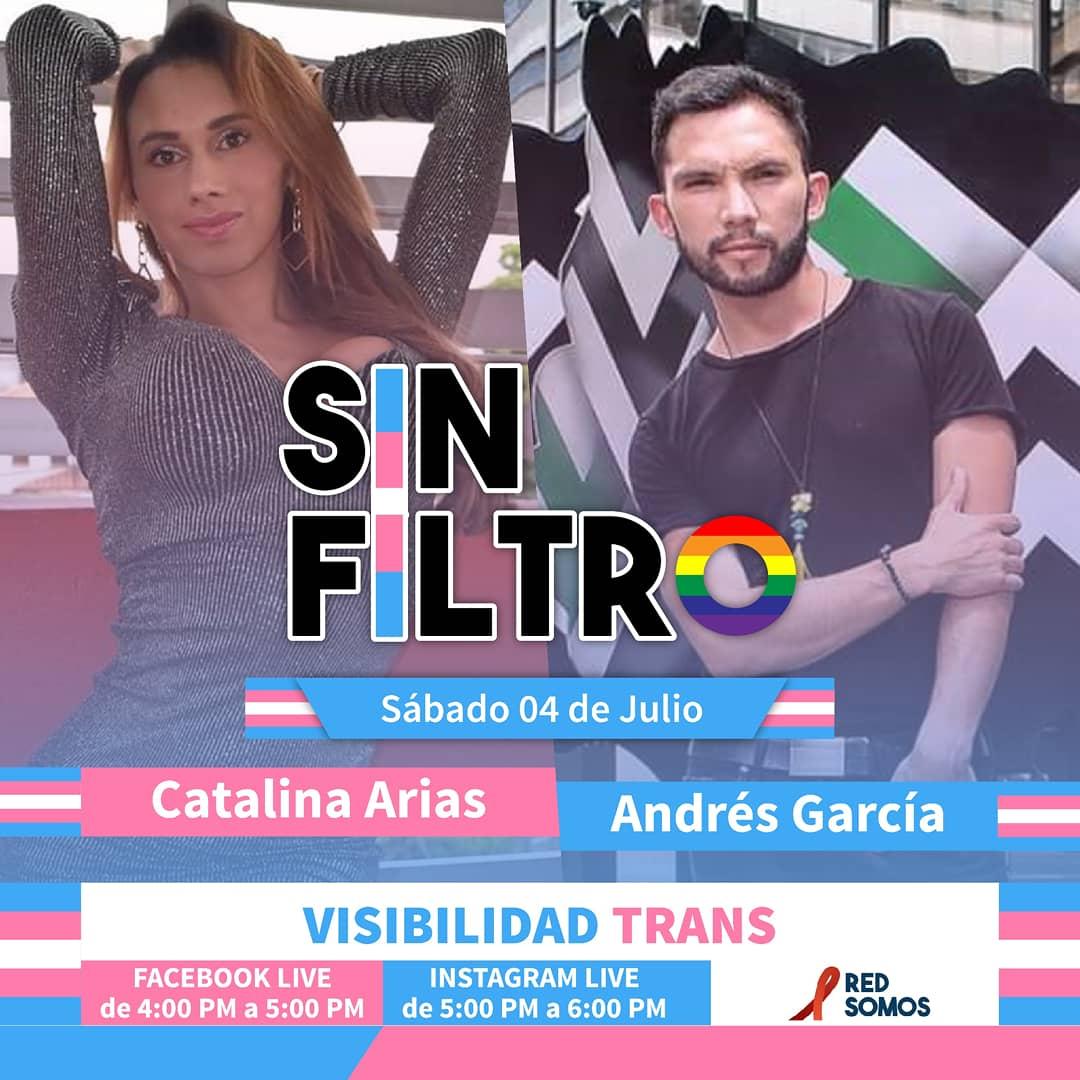 El 4 de #Julio te invitamos a un nuevo programa de #SinFiltro  🔜 Facebook Live: 4:00 PM a 5:00 PM (https://t.co/QwNteClRcS)  🔜 Instagram Live: 5:00 PM a 6:00 PM (@redsomoscol)  🏳️🌈 #ORGULLO #LGBTI #Pride 🏳️🌈 🏳️⚧ #Entrevista 🏳️⚧ #Trans 🏳️⚧  💖 #LaSolidaridadCambiaVidas 💖 https://t.co/Sr8029ZjZm