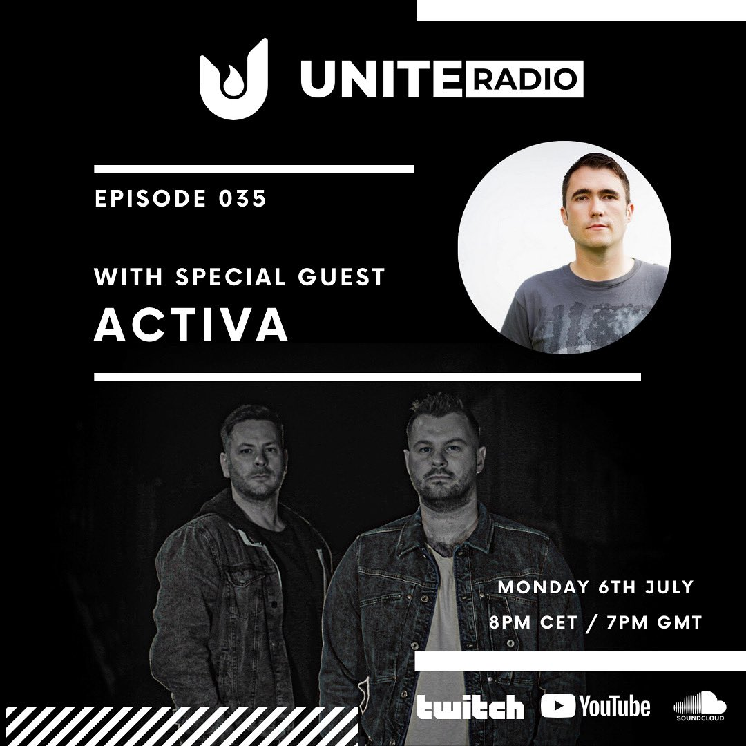 This month on #uniteradio we're delighted to welcome @ActivaMusic for an exclusive interview & guestmix  Subscribe here to make sure you don't miss it - https://t.co/NlpWebQTln . . #trance #trancefamily https://t.co/onpLkTyDz2